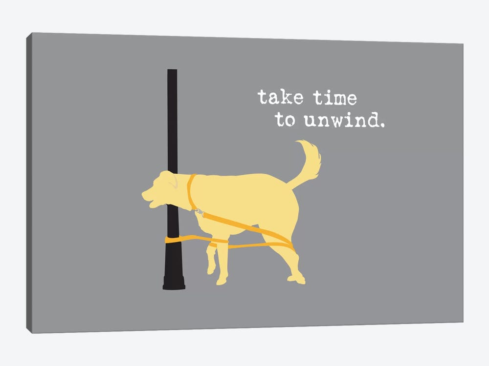 Unwind by Dog is Good and Cat is Good 1-piece Canvas Art Print