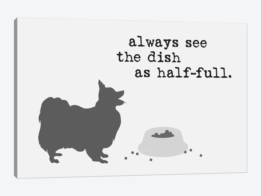 Half Full II by Dog is Good and Cat is Good 1-piece Art Print