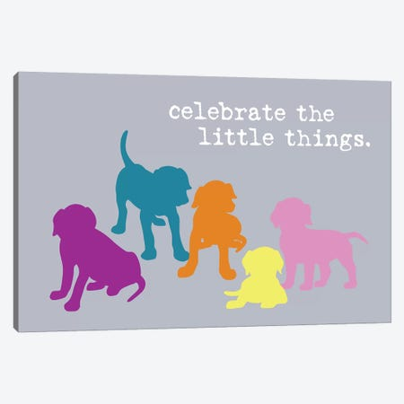 Little Things, Multi-Colored Canvas Print #DIG98} by Dog is Good and Cat is Good Canvas Art Print