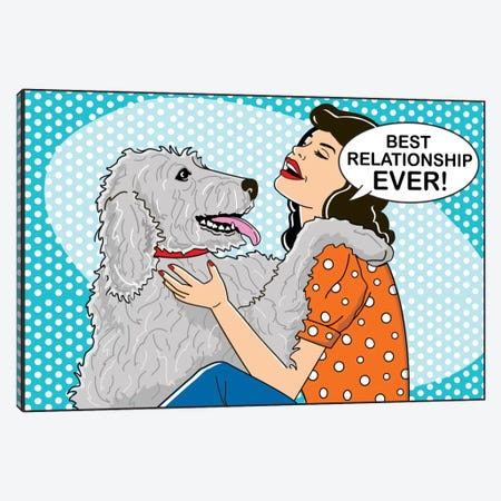Best Relationship Ever Canvas Print #DIG9} by Dog is Good and Cat is Good Canvas Art