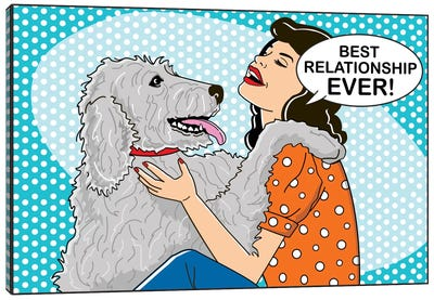 Best Relationship Ever Canvas Art Print