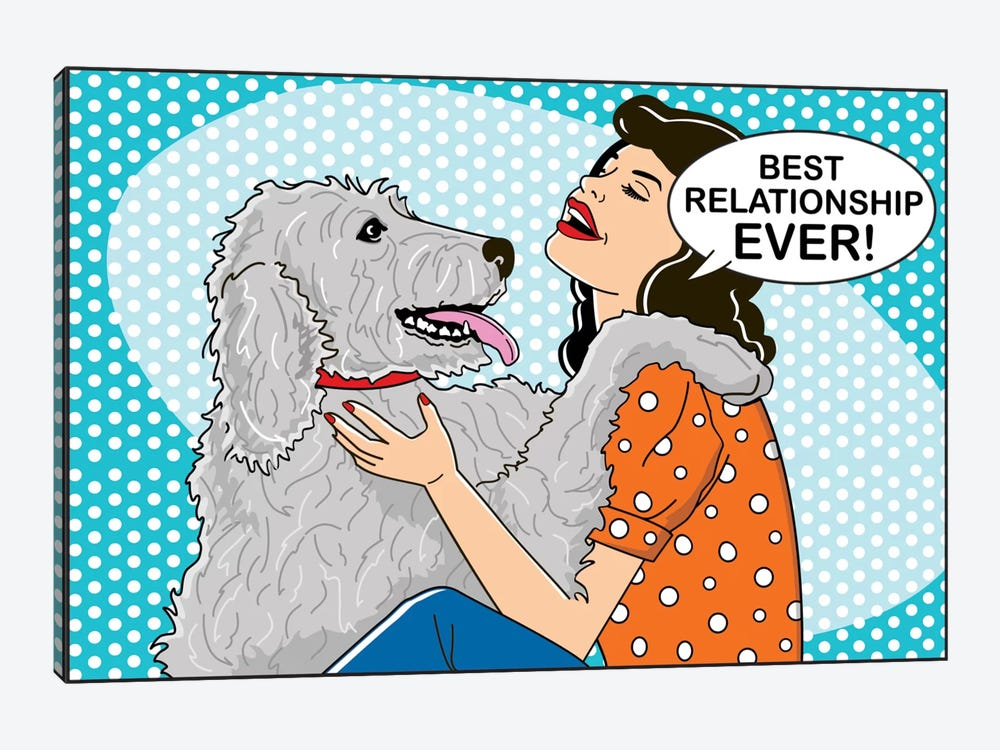 Best Relationship Ever by Dog is Good and Cat is Good 1-piece Canvas Art Print