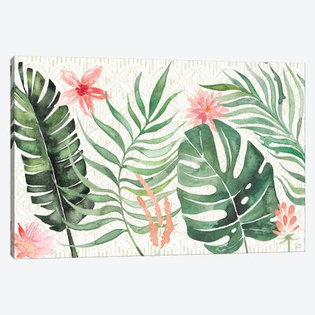 Paradise Petals I Canvas Print #DIJ10} by Dina June Canvas Wall Art