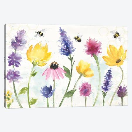 Bee Harmony I Canvas Print #DIJ24} by Dina June Canvas Wall Art
