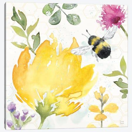 Bee Harmony II Canvas Print #DIJ25} by Dina June Canvas Art