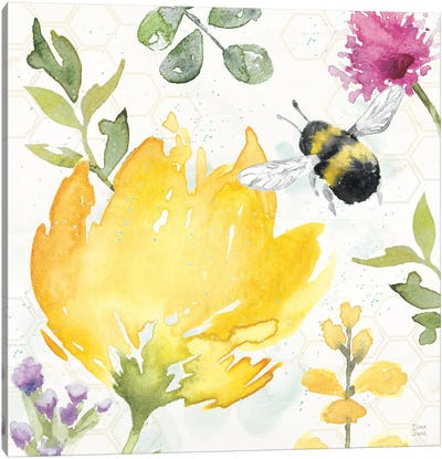 Bee Harmony II Canvas Art Print
