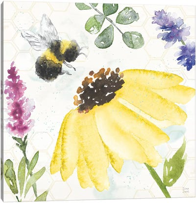 Bee Harmony III Canvas Art Print