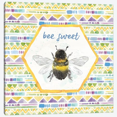 Bee Harmony VI Canvas Print #DIJ27} by Dina June Canvas Wall Art
