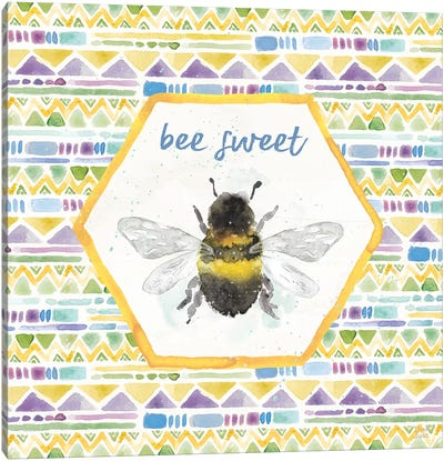 Bee Harmony VI Canvas Art Print