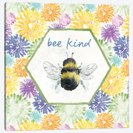 Bee Harmony VII Canvas Print #DIJ28} by Dina June Art Print
