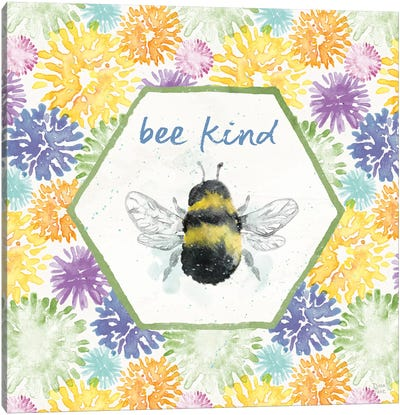 Bee Harmony VII Canvas Art Print