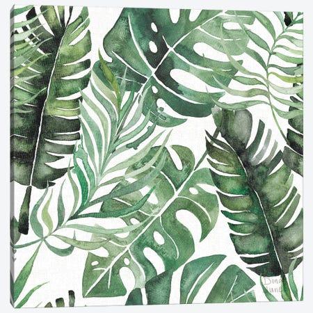 Paradise Petals Pattern IB Canvas Print #DIJ34} by Dina June Canvas Print