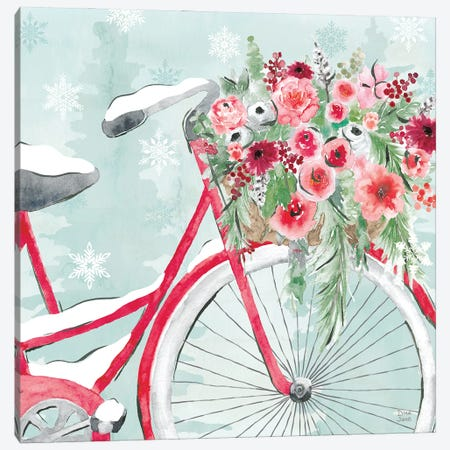 Holiday Ride V Canvas Print #DIJ36} by Dina June Canvas Art Print