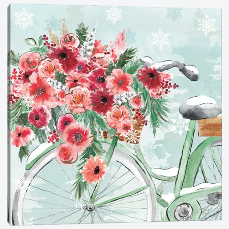 Holiday Ride VI Canvas Print #DIJ37} by Dina June Art Print