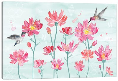 Flowers and Feathers I Canvas Art Print