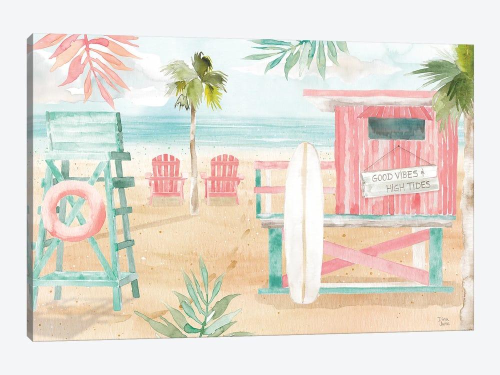 Surfs Up II by Dina June 1-piece Canvas Artwork