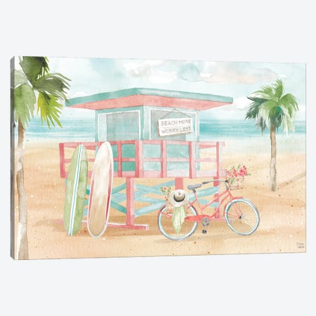 Surfs Up VII Canvas Print #DIJ47} by Dina June Canvas Artwork
