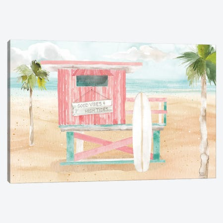 Surfs Up VIII Canvas Print #DIJ48} by Dina June Art Print