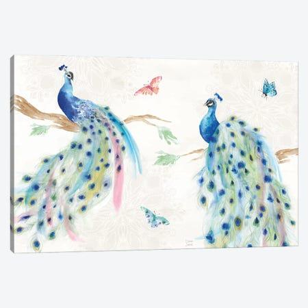 Peacock Glory I Canvas Print #DIJ49} by Dina June Art Print