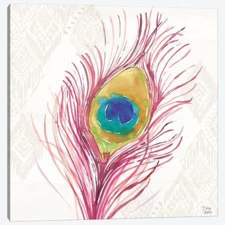 Peacock Glory Vi Canvas Print #DIJ55} by Dina June Canvas Art Print