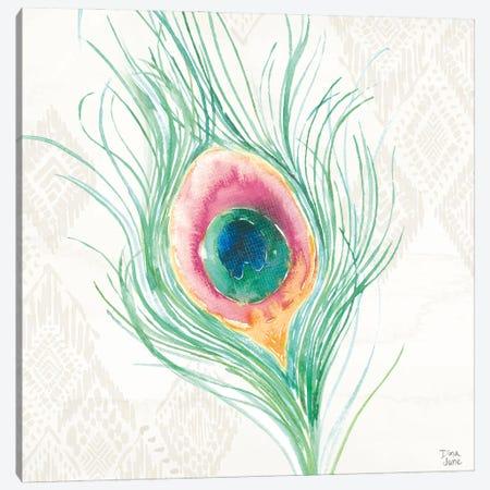 Peacock Glory Vii Canvas Print #DIJ56} by Dina June Art Print