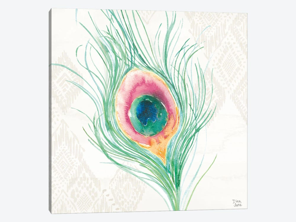 Peacock Glory Vii by Dina June 1-piece Canvas Print