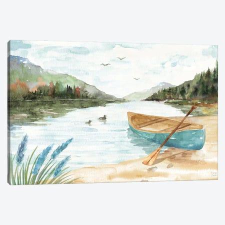 Lake Love I Canvas Print #DIJ57} by Dina June Art Print