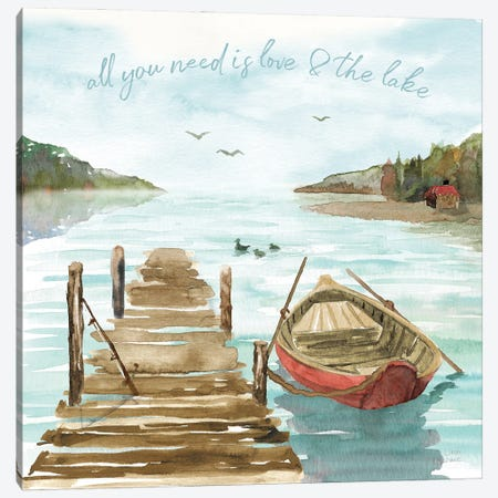 Lake Love II Canvas Print #DIJ58} by Dina June Canvas Art