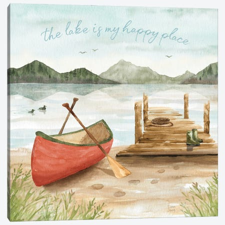 Lake Love III Canvas Print #DIJ59} by Dina June Canvas Wall Art