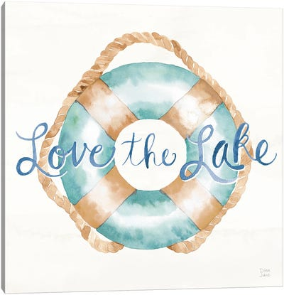Lake Love VI Canvas Art Print