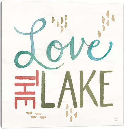 Lake Love VII Canvas Art Print