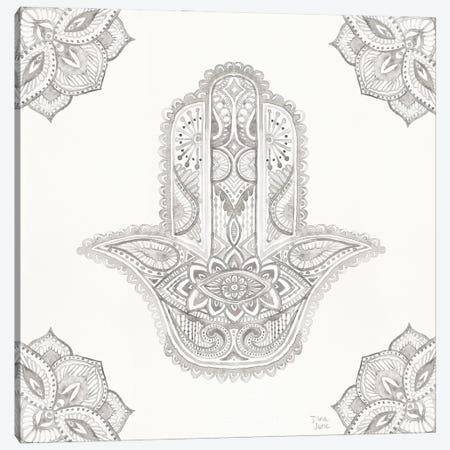 Touch Of Hamsa I Canvas Print #DIJ65} by Dina June Canvas Art