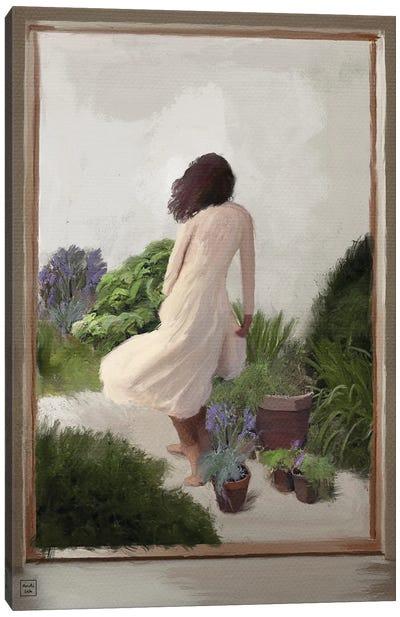 White Dress Canvas Art Print