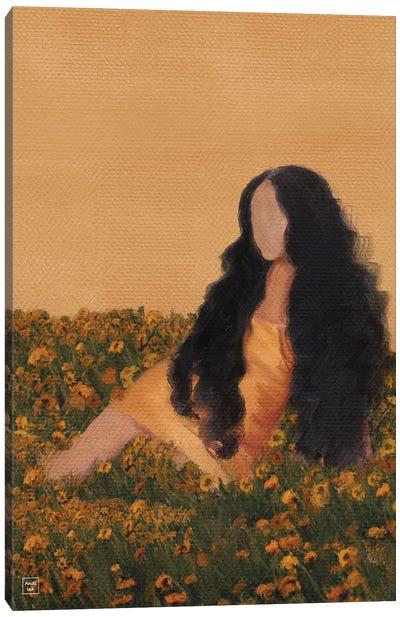 Orange Garden Canvas Art Print