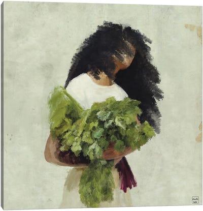Bouquet Of Greens Canvas Art Print