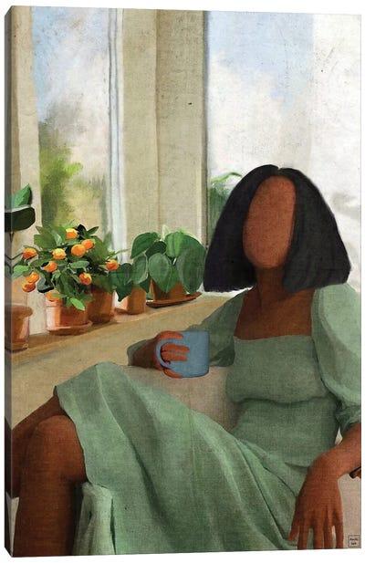 Green Dress Canvas Art Print