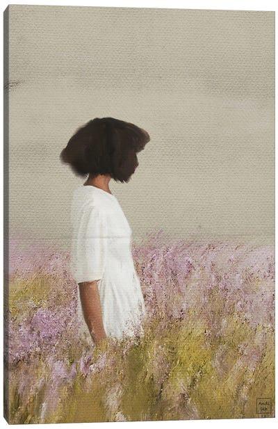 Lavender Girl Canvas Art Print