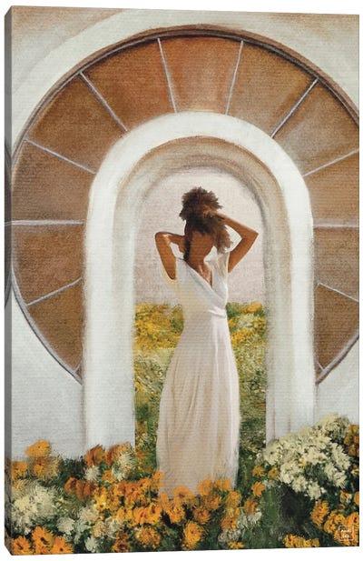 Open Garden Canvas Art Print