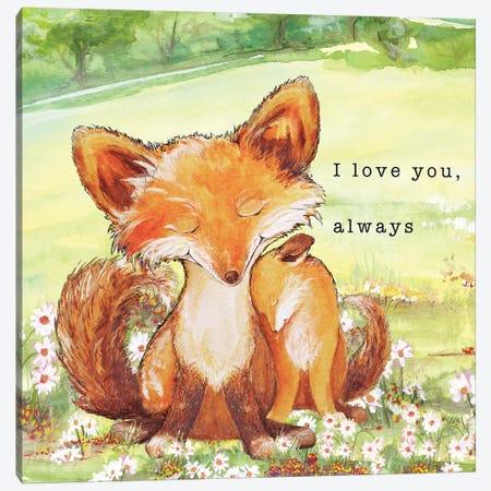 Fox Tales II Canvas Print #DIN11} by Diannart Canvas Artwork