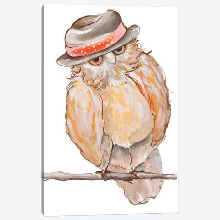 Jazzy Owl Canvas Print #DIN13} by Diannart Canvas Artwork