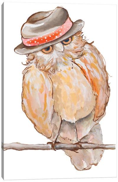 Jazzy Owl Canvas Art Print