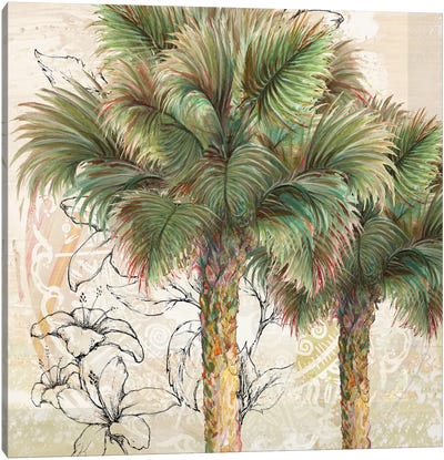 Palms Away I Canvas Art Print