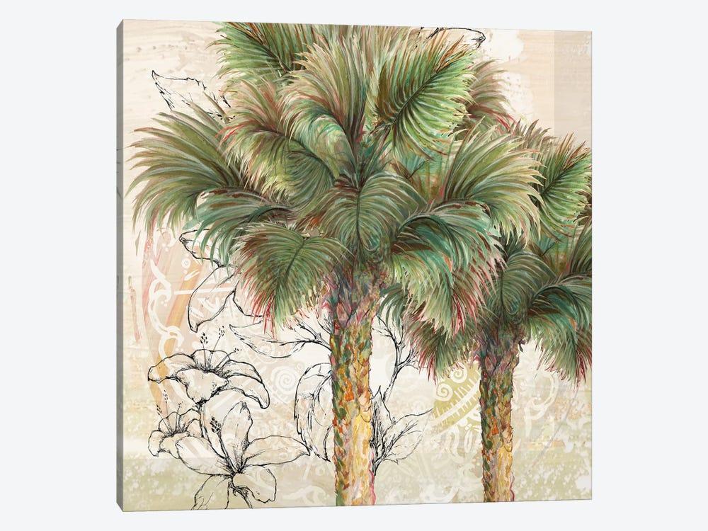 Palms Away I by Diannart 1-piece Canvas Art Print