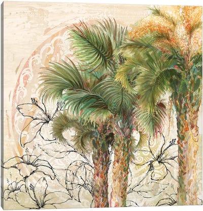 Palms Away II Canvas Art Print