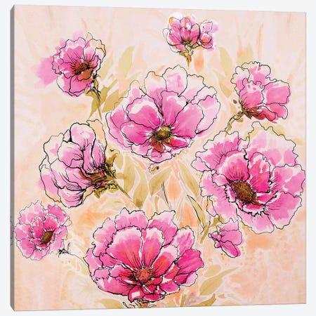 Pink Love II Canvas Print #DIN18} by Diannart Canvas Art