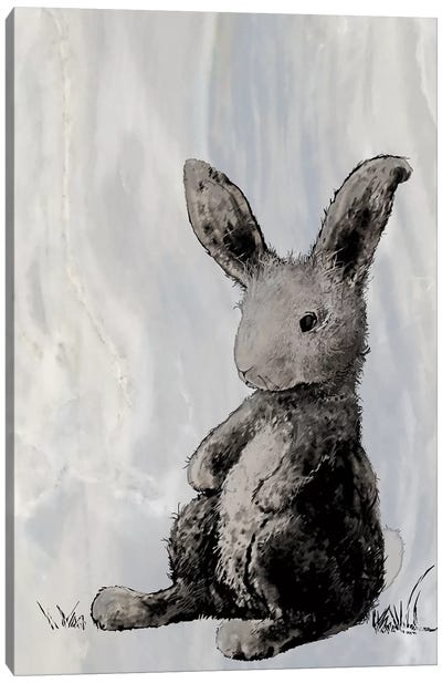 Bunny on Marble I Canvas Art Print