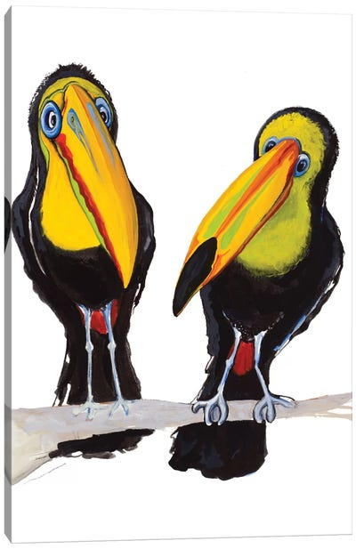Two Toucans Canvas Art Print