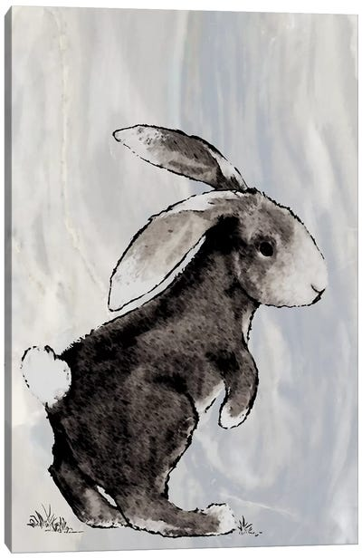 Bunny on Marble II Canvas Art Print