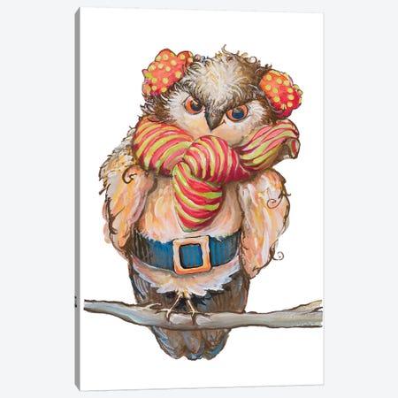 Cozy Winter Owl Canvas Print #DIN31} by Diannart Canvas Wall Art