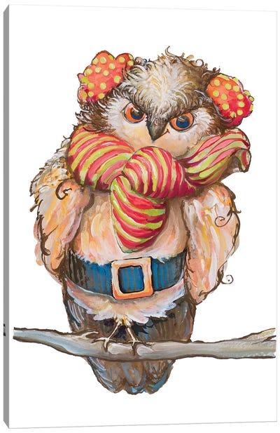 Cozy Winter Owl Canvas Art Print